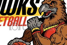 Vectors of hawks basketball team design with muscular mascot for... csp32897433 - Search Clip Art, Illustration, Drawings and Clipart EPS Vector Graphics Images