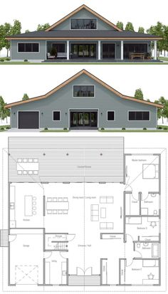 Floor plan ideas, Home Plan, Farmhouse Plans Barn Style House Plans, Barn Homes Floor Plans, Metal House Plans, Metal Barn Homes, Pole Barn House Plans, New House Plans, Dream House Plans, Small House Plans, Barn Home Plans
