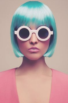 Pastel teal blue green hair + bob + colour trend Spring 2013