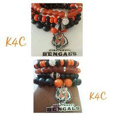 Cincinnati Bengal Bracelet Set