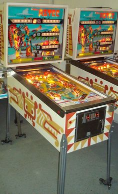I used to love to play Pinball, and I was actually pretty good at it.  These were the exact same machines I played on in my teen years.