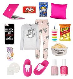 """""""Netflix Binge"""" by nury-sg ❤ liked on Polyvore featuring Pijama, Speck, Society Social, Casetify, Kate Spade, Eve Lom and Essie"""