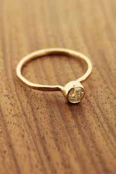 Melissa Joy Manning: Soft Yellow Diamond Ring by Melissa Joy Manning