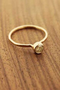 Melissa Joy Manning: Soft Yellow Diamond Ring by Melissa Joy Manning