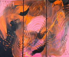 Original Painting Three 20 X 60 BOX CANVAS Come as as set I paint to music, I made this painting with Acrylic Paint and was in my Venus Hill Studio. I made this painting listening to Pink Abstract Expressionism, Abstract Art, Gold Price, Black Gold, Original Paintings, Canvas, Sketchbooks, Figurative, Venus