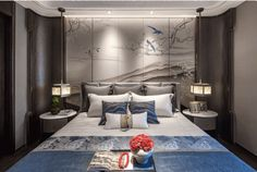 Chinese Interior, Bedclothes, Bed Rooms, Guest Room, Photograph, China, Interiors, Space, Wall