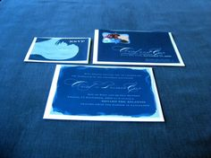 Search no more, I found your wedding invitations!!     Ariel and Eric Deep Ocean Blue Invitations by thefuturemrsdarcy, $5.00