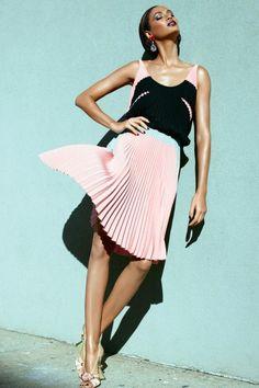 Joan Smalls for Vogue, Australia, May 2012 styled in Prada, Bottega Veneta and Dolce & Gabbana.