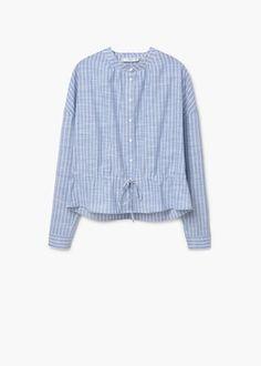 Mango outlet - blouse chemise péplum - taille m - 23€