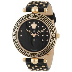 "Versace Women's ""Vanitas"" Rose Gold Ion-Plated Watch with Interchangeable Leather Band. Available at #Brandinia      www.Brandinia.com"
