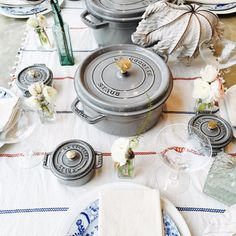 the return of a favorite: Staub's grey enameled, cast iron cookware made exclusively for goop. #goopshop