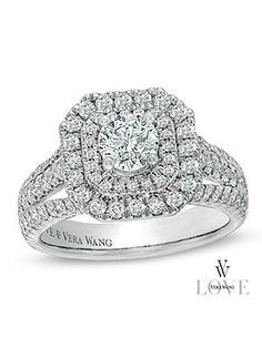 Vera Wang Double Halo -  Zales...had to pin it because it's almost like mine :)