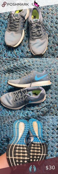 Nike tennis shoes Minor flaws shown in photos, overall great condition Nike Shoes Athletic Shoes<br> Nike Tennis Shoes, White Nikes, Athletic Shoes, Nike Women, Overalls, Flaws, Blue And White, Fashion Design, Fashion Trends