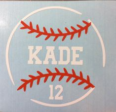 Personalized baseball decal from LMCA Designs