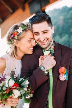 colorful couple | Veronica Varos #wedding: