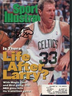 larry bird boston celtics #autographed march 23 1992 sports illustrated from $144.46