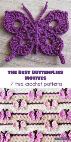 The Best 10 Butterfly Motifs and 7 Free Crochet Patterns