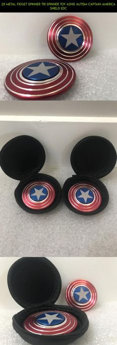 2x Metal Fidget Spinner Tri Spinner Toy ADHD Autism Captain America Shield EDC #plans #fpv #racing #fidget #products #kit #gadgets #lot #shopping #metal #drone #camera #technology #parts #tech #spinner