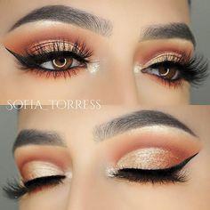 "Makeup Details✨ Lashes: @shopsofiebella ""Havana Heat"" Eyes: @anastasiabeverlyhills Modern Renaissance Palette Brows: @anastasiabeverlyhills brow whiz Wing: @girlactik precise eyeliner marker"