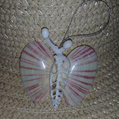 Butterfly Seashell Ornament