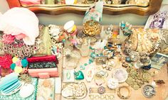 <3 this idea..A lot of these are from when I was a teenager. And some from my mother. And a lot from travels all over and of course, as well as the New York Flea!