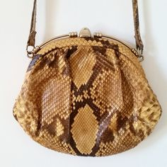Vintage 70s Genuine Snake Skin Purse by DirtyPopAccessories on Etsy