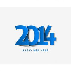 2014 new year blue typography