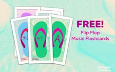 Music flip flop flashcards and lots of other teaching aids from ComposeCreate.com