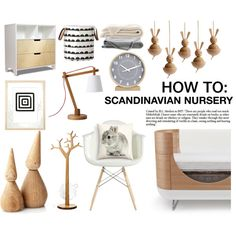 HOW TO: SCANDINAVIAN NURSERY by littlemissapple1 on Polyvore featuring interior, interiors, interior design, home, home decor, interior decorating, Serena & Lily, H&M, Crate and Barrel and Swedese
