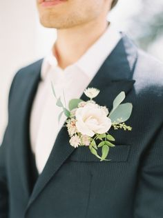Gorgeous rose boutonniere: http://www.stylemepretty.com/2015/08/31/romantic-whimsical-georgian-era-wedding-inspiration/ | Photography: Zosia Zacharia - http://www.zosiazacharia.com/