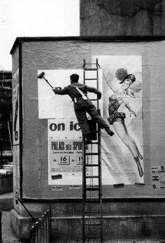 Photo: Paul Almasy - The bill-poster, Paris 1950. °