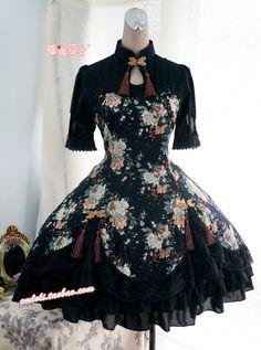 [Strawberry Witch] LOLITA Lolita China strawberry print dress Qiluo wind fragrant peony - Taobao