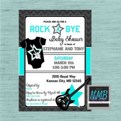 A personal favorite from my Etsy shop https://www.etsy.com/listing/507941239/rock-a-bye-baby-shower-invitation
