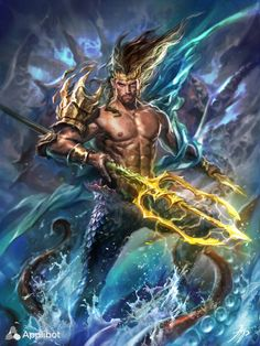 New Mythology Eugenias Collages Amphitrite One Of the 50 who is the Wife Of Poseidon - Curties Color Mythological Creatures, Fantasy Creatures, Mythical Creatures, Art Gay, Greek Gods And Goddesses, Greek And Roman Mythology, Mermaids And Mermen, Fantasy Kunst, Merfolk