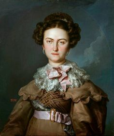 1820 Reina María Josefa Amalia by Vicente López y Portaña.  María Josefa is seen to be wearing long puffed sleeves on a dress that may be suede.