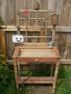 From The Alley To The Gallery: A Sweet Broken Desk Becomes a Potting Bench
