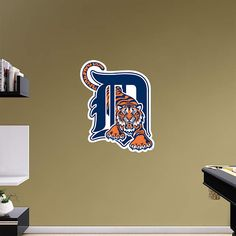 Detroit Tigers fan? Prove it! Put your passion on display with a giant Detroit Tigers Logo Fathead wall decal!