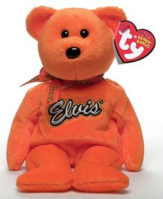 Coco Presley (orange), Ty Beanie Baby bear, reference information and photograph. Rare Beanie Babies, Beanie Baby Bears, Ty Beanie Boos, Ty Bears, Old Teddy Bears, Best Lego Sets, Teddy Bear Cartoon, Ty Babies, Baby Queen
