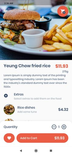 UI kit food delivery dark - Google Search