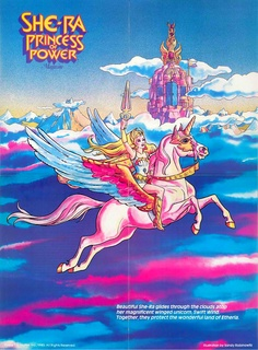 This is She-Ra Princess of Power. This is a comic book and cartoon from the 1980's. In this book, Hayden uses this comic book and cartoon to connect and make a relationship with one of her students named Venus.