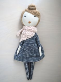 Unique doll handmade doll christmas gift/ Lou by lespetitesmainsS