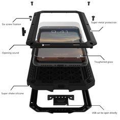 Wish | Iphone Case Aluminum Waterproof Shockproof Waterproof Metal Cover Case For IPhone 4 4S 5 5S 5C 6 6plus 6S 6Splus/7 7plus 8/8 Plus