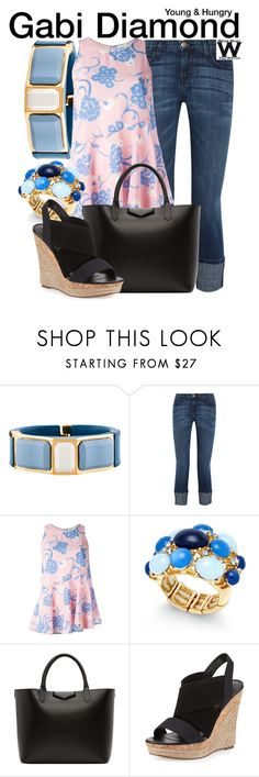 """""""Young & Hungry"""" by wearwhatyouwatch ❤ liked on Polyvore featuring Prada, Current/Elliott, P.A.R.O.S.H., INC International Concepts, Givenchy, Charles by Charles David, television and wearwhatyouwatch"""