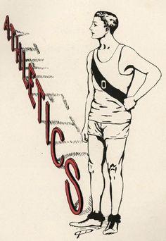 1910 Athletics.  From the 1911 Oregana (UO Yearbook).  www.CampusAttic.com