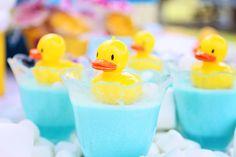Rubber duck Jello treats #rubberduckparty #bathtime #Jello #Coolwhip