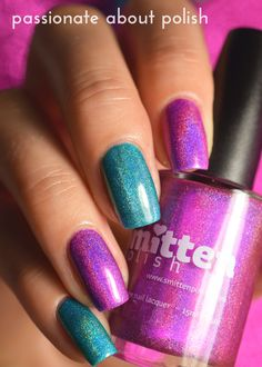 Smitten Polish - Blue Footed Booby Dance & Radiant Orchid