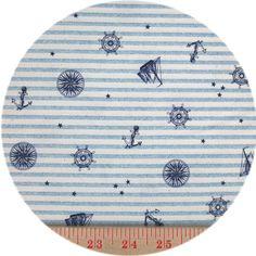 Westex, TWILL, Nautical Stripe Light Blue