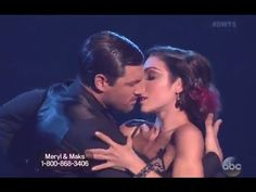 Meryl Davis and Maksim Chmerkovskiy danced a Tango on Dancing With the StarsSeason Week Party Anthem Week. In their video package Meryl admitted to being disappointed with getting all no next week. Calvin Harris Album, Party Anthem, Feel So Close, Mark Ballas, Meryl Davis, Maksim Chmerkovskiy, Show Dance, Swing Dancing, Argentine Tango