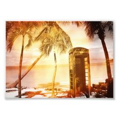 Vintage telephone booth yellow glow art photo #sold on #zazzle #phone booth