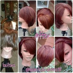 Cut and color with highlights